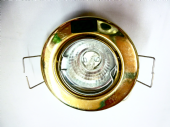 brass downlight 12v halogen. recessed
